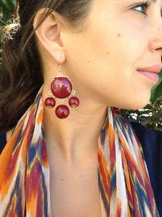 $18 Berry JCrew look earrings