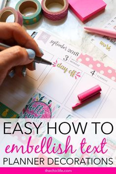 Quick & easy tutorial on How to Make Text Stand Out in Your Planner. This is a great beginner tip that is useful to give attention to key dates and to-dos. To Do Planner, Planner Tips, Planner Layout, Erin Condren Life Planner, Planner Pages, Happy Planner, Printable Planner, Planner Stickers, 2015 Planner