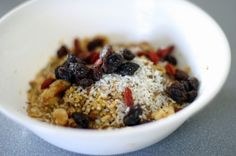 Buckwheat Berry Cereal - looks super yummy
