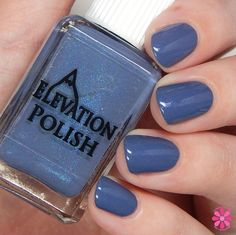 SBP: What's remembered, not forgotten  Description: near bright denim blue with blue micro shimmer, sparse violet/pink shimmer