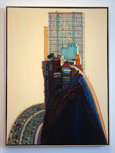 Wayne Thiebaud - Apartment Hill - Nelson-Atkins Museum of Art by Marshall Astor Wayne Thiebaud, Colorful Paintings, Paintings I Love, Contemporary Paintings, Urban Landscape, Landscape Art, Landscape Paintings, Richard Diebenkorn, Illustration Art