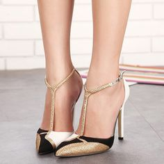 2016 Bling High Heels T Strap Gladiator Sandals Summer Platform Wedding Shoes Woman Pointed Toe gold Rhinestone Pumps XWD3327-in Women's Sandals from Shoes on Aliexpress.com | Alibaba Group