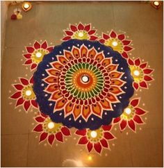 Latest Rangoli Designs for Diwali Browse over Ideas & Images on rangoli design for Diwali festival. Diwali is never complete without rangoli colours. Rangoli Designs Simple Diwali, Rangoli Designs Latest, Rangoli Simple, Indian Rangoli Designs, Rangoli Designs Flower, Free Hand Rangoli Design, Rangoli Border Designs, Small Rangoli Design, Rangoli Patterns