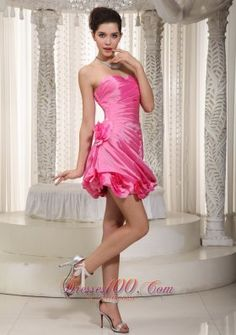 Hot Pink Sweetheart Mini-length Organza Short Homecoming Dress in Ontario Glitz Pageant Dresses, Cheap Homecoming Dresses, V Neck Prom Dresses, Cute Prom Dresses, Beaded Prom Dress, Prom Dresses For Sale, Prom Dresses Online, Quinceanera Dresses, Party Dresses