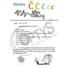 cvičebnice hláska č, dvojlist - OPTYS. Word Search, A4, Words, Speech Language Therapy, Horse