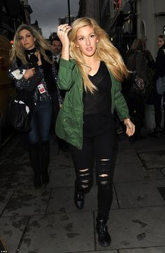 Ellie Goulding, who sang at William and Kate's Buckingham Palace wedding reception and per...