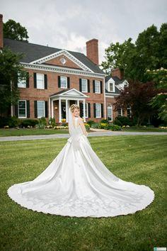 Fairytale Wedding Dress, Lace and Satin Ballgown - Ashley Style