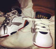 bf8f715ff7e5e Snooki shares picture of Lorenzo in his Air Jordans. day after baby Milan  rocked a pair of Nikes
