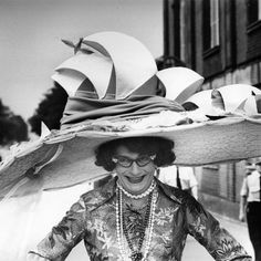 Dame Edna Everage (Barry Humphries) Wearing a Sydney Opera House Hat, June 1976