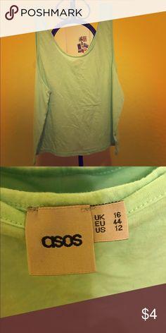 ASOS Mint Tank Top Excellent condition. Low scoop neck. Mint color. Low arm holes. Oversized. ASOS Tops Tank Tops