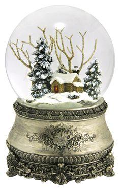 The most beautiful Christmas snow globe Christmas Snow Globes, Noel Christmas, All Things Christmas, White Christmas, Xmas, Musical Snow Globes, I Love Snow, Water Globes, Glass Globe