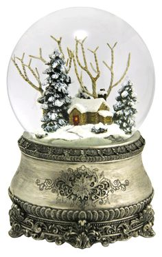 "The most beautiful Christmas snow globe ever -  plays ""I'll be Home for Christmas"" from snowdomes.com"
