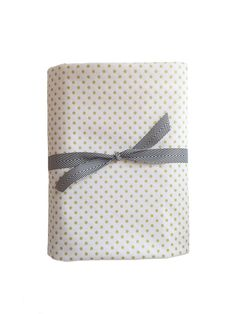 fitted crib sheet in metallic gold polka dots from candy kirby designs