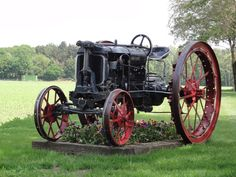 Old tractor flowerbed