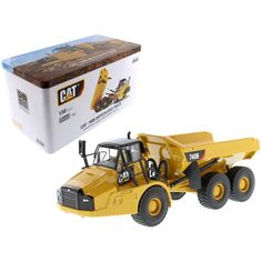 CAT Caterpillar 740B Articulated Hauler-Dump Truck with Tipper Body and Operator High Line Series 1-50 Diecast Model by Diecast Masters