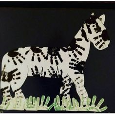 handprint zebra artwork      funnycrafts