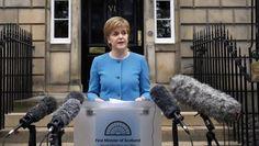 Nicola Sturgeon verkündet am Samstag in Edinburgh ihre Absicht, ein zweites Unabhängigkeits-Referendum abzuhalten.