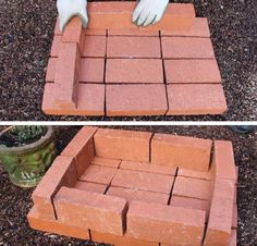 Step 3: Add A Layer Of Bricks | How To Make A Temporary Brick Grill