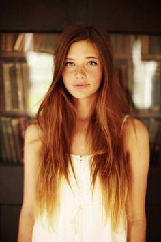 models with green eyes and copper brown hair - Google Search
