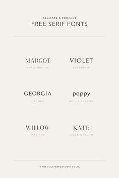 Free Serif Fonts Vol. I — Cultivate Studio Graphic Design Fonts, Typography Design, Font Logo Design, Police Avec Serif, Site Web Design, Brand Design, Inspiration Typographie, Logo Inspiration, Brand Fonts