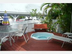 small deck, town key, deck design, key west, hot tubs, beach