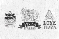 Pizza Symbol by Anna on Creative Market