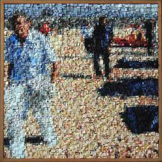 incredible art - Kinetic Mosaics The Art of Movement Mosaic Artwork, Mosaic Wall Art, Mosaic Tiles, Mosaic Portrait, Portrait Art, Portraits, Stone Mosaic, Mosaic Glass, Stained Glass