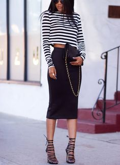 #edgy #fashion #stripes