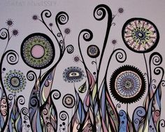 Love the flowers and swirls!   by Sometimes I Swirl
