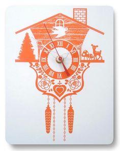 Cool!  cuckoo clock by Etsy seller decoylab
