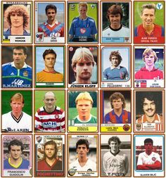 A brilliant image of Premier League managers when they were players.
