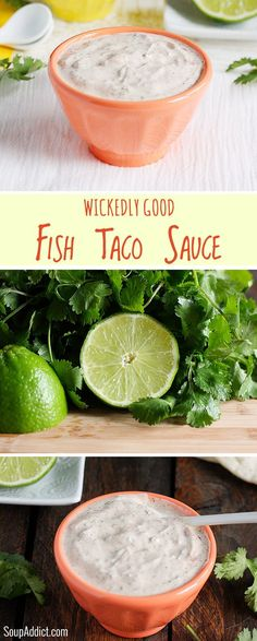 Wickedly Good Fish Taco Sauce - the best white sauce for your fish tacos.