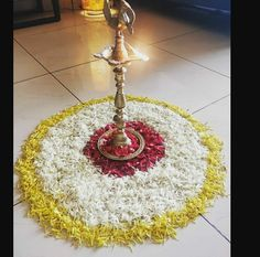Flower Rangoli, Tree Skirts, Christmas Tree, Decorations, Holiday Decor, Flowers, Gold, Home Decor, Teal Christmas Tree