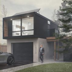 Living in the container house – Alternative living concepts in a small space. … - Build Container Home Building A Container Home, Container Buildings, Container House Design, Tiny House Design, Modern House Design, Container Cabin, Shipping Container House Plans, Shipping Containers, Casas Containers