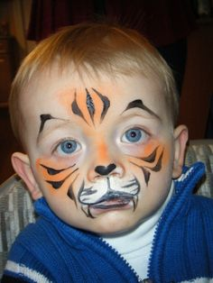 Easy Animal Face Painting | Tiger Face Painting Ideas