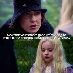 """#OnceUponATime 4x19 """"Sympathy for the De Vil"""" - Cruella and her mother"""