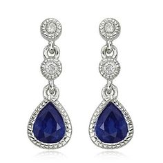 Gemstone for 5th year anniversary is Sapphire, or pink tourmaline. Love these earings!