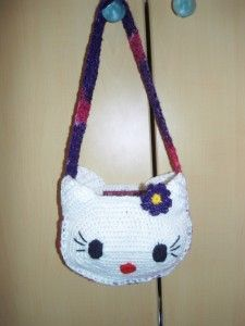 hello kitty bag Hello Kitty Bag, Chrochet, Baby Shoes, Slippers, Characters, Projects, Kids, Fashion, Dime Bags