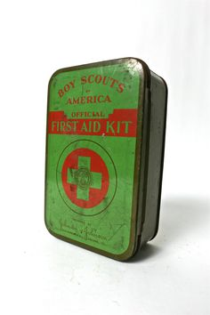 Vintage Boy Scouts of America First Aid Kit with Original Supplies