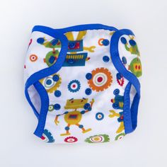 Robots Size Small Pocket Cloth Diaper Cover by ShopFledgeling, $20.00