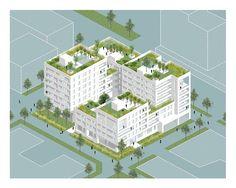 Urban Design And Landscape Architecture Bilkent Landscape Architecture Model, Architecture Graphics, Architecture Visualization, Architecture Drawings, Architecture Design, Urban Landscape, Landscape Design, Axonometric Drawing, Urban Design Diagram