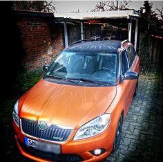 #Skoda Fabia Combi vrs, plasti dip, burnt orange, Black metallic....