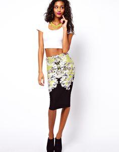 #asos                     #Skirt                    #ASOS #Pencil #Skirt #Floral #Baroque #Print        ASOS Pencil Skirt in Floral Baroque Print                                     http://www.seapai.com/product.aspx?PID=1348315