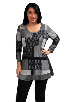 126216-GREY-SIL https://fashquedesigns.com/shop/126216-grey-sil/ PRINTED COLOR BLOCK TUNIC...