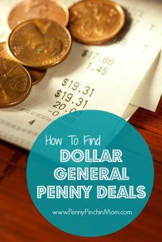 Learn how to identify penny deals at Dollar General!  #dollargeneral  #savingmoney     www.pennypinchinmom.com