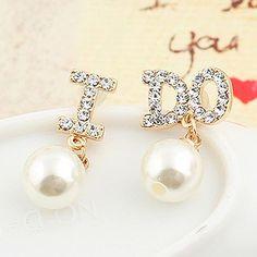 ♡ I DO! ♡ #Pearl #Earrings https://www.ibrightenshop.com/store/p17/I_Do_pearl_earrings.html