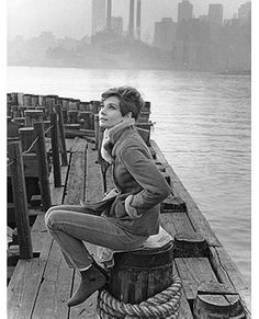 On location in New York for Wait Until Dark, 1967. Copyright © Howell Conant.