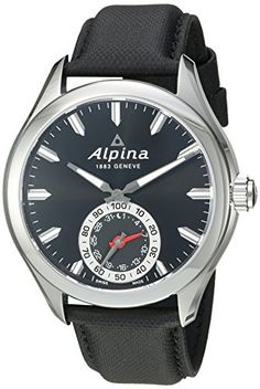 Men's Smartwatches - Alpina Mens AL285BS5AQ6 Horological Smart Analog Display Swiss Quartz Black Watch -- Check this awesome product by going to the link at the image. (This is an Amazon affiliate link)