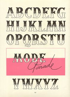 vintage decorative alphabet, Album de lettres Arti (1949)