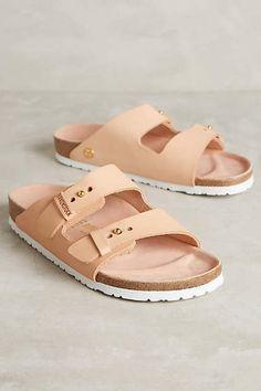 Birkenstock Arizona Slides Powder Leather 41 Euro Sandals